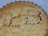 Fruit Pies are stamped with markings to tell what fruit pie you have